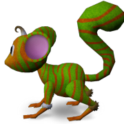 Mossm ORANGE GREEN ZEBRA